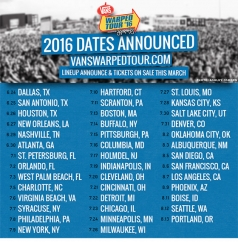 Vans Warped tour dates are in!!